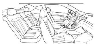 Machine à l'intérieur intérieur du véhicule Illustration Photographie stock libre de droits