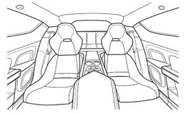 Machine à l'intérieur intérieur du véhicule Vecteur Images libres de droits