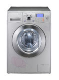 Machine à laver avec des fleurs Image stock