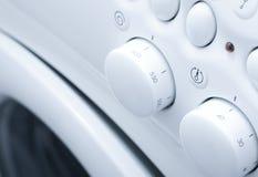 Machine à laver blanche Photographie stock libre de droits