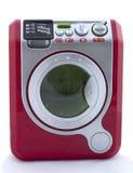 Machine à laver de jouet sur le fond blanc, Photos stock
