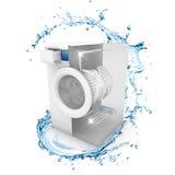 Machine à laver propre Images stock