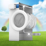 Machine à laver propre Image stock