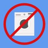 Machine à laver sur le fond d'isolement Photo stock