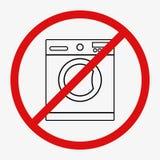 Machine à laver sur le fond d'isolement Image stock