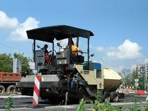 Machine à paver d'asphalte Photographie stock libre de droits