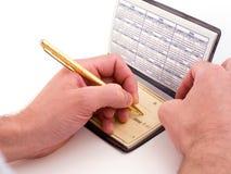 Machine à personnaliser les chèques photographie stock