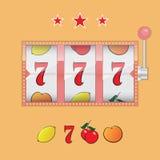 Machine à sous de casino Images stock