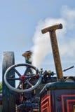 Machine à vapeur avec la pelle à charbon Photos libres de droits