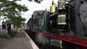 Machine à vapeur de Gabriel dans Kawakawa Nouvelle-Zélande banque de vidéos