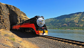 Machine à vapeur Pacifique méridionale de jour Image libre de droits