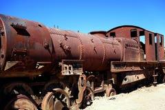 Machine à vapeur rouillée Photos libres de droits