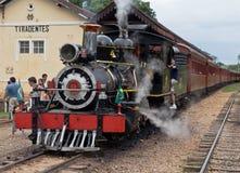 Machine à vapeur Tiradentes locomotif Brésil Images stock