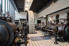 Machine à vapeur très grande montrée au musée commémoratif de Toyota de l'industrie et de la technologie images stock