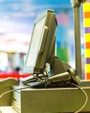 Machine électronique de point de vente photo libre de droits