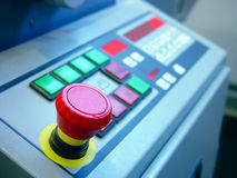 The machine. In the factory or printing range Royalty Free Stock Image