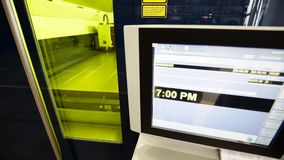 Machine for Automatic Laser Cutting of Metal stock video footage