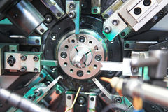 Machine automatic spring coiling Royalty Free Stock Image