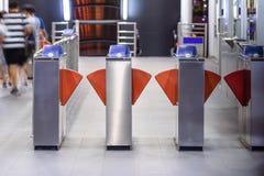 Machine automatique de billet à la station de train Images stock