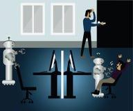 Machine automatique, la technologie disruptive, changement au robot utilisé illustration libre de droits