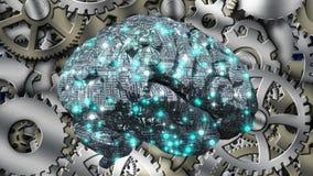 Machine Brain Stock Photo