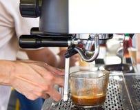 Machine Brewing a Coffee. Stock Image