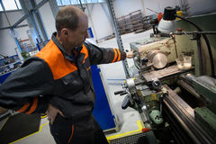 Machine-building plant Royalty Free Stock Image