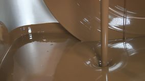 Machine for the chocolate stock video