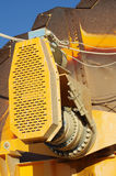 Machine closeup sand extraction Royalty Free Stock Images