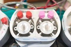 Machine coeur-poumon d'og de pièce de pompe de rouleau image stock