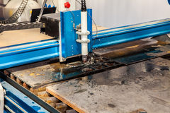 Machine for constant metal laser cutting Stock Image