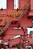 Machine in container goods yard Stock Images