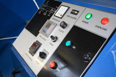 Machine control box. A rope machine control panel royalty free stock photos