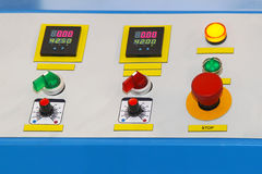 Machine control panel Royalty Free Stock Photo