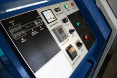 Machine control panel. A close look of machine control panel stock images