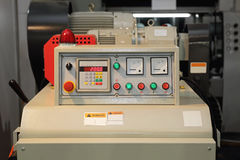 Machine Control Panel Stock Photo
