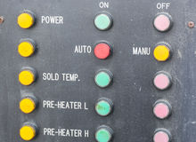 Machine control panel Stock Images