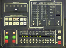 Machine control panel Royalty Free Stock Photo