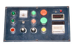 Machine control panel. Stock Photos