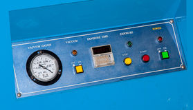 Machine control panel. Royalty Free Stock Image