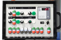 Machine control panel Stock Image
