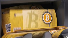 Machine counts notes created as bitcoin currency