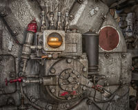 Machine 2. Crazy looking machine in an abandoned factory stock images