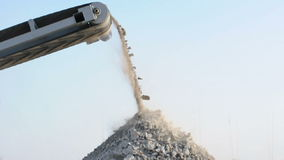 Machine for crushing stone stock footage