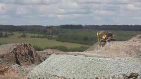 Machine For Crushing Stone. Falling Rocks stock video