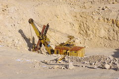 Machine for crushing stone in Quarry Stock Image