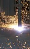 Machine cut Royalty Free Stock Photo
