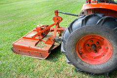A machine for cutting the grass on a lawn Stock Images