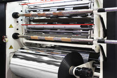 Machine for cutting rolls Royalty Free Stock Photography