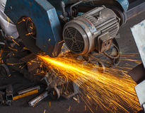 Machine for cutting steel Royalty Free Stock Photography